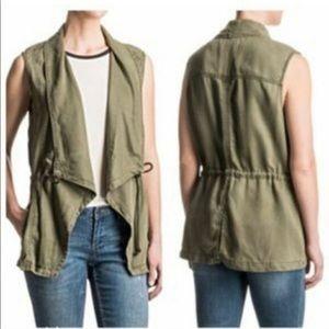 💕Max Jeans Olive Green drape utility vest Size M